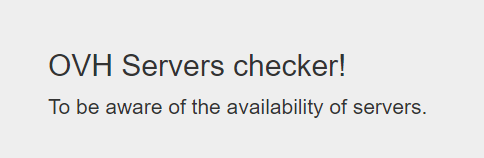 OVH Servers checker!